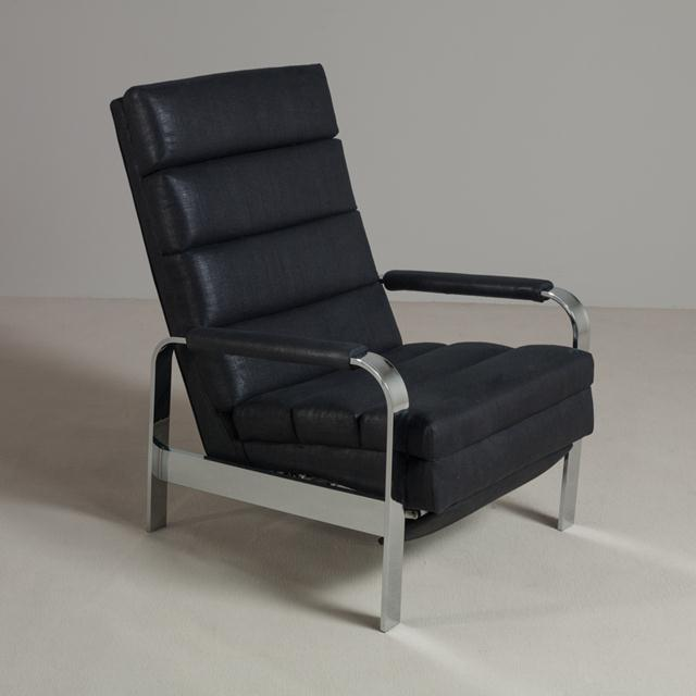 Chromium Steel Framed Reclining Armchair, 1970s For Sale - Image 6 of 6