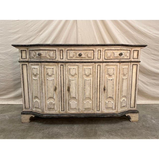 Italian Painted Credenza Buffet - Early 20th C For Sale - Image 12 of 12