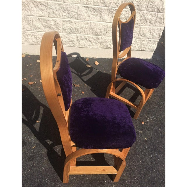 Art Deco Art Nouveau Arts and Craft Danish Mid Century Art Deco Side Chairs - Set of 2 For Sale - Image 3 of 11