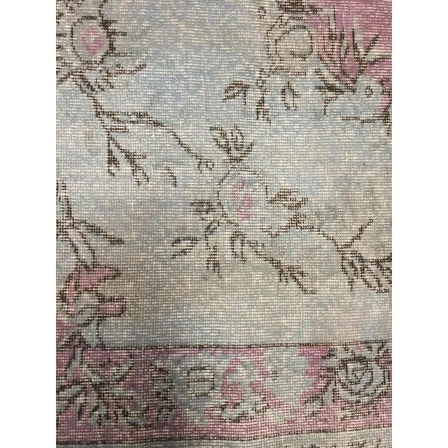 "Textile Vintage Distressed Turkish Rug - 6'5"" X 9'7"" For Sale - Image 7 of 7"