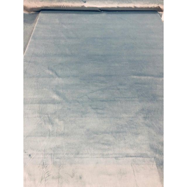 Kravet Design Versailles - E25006 Blue Designer Velvet Fabric ( 3 Yards) For Sale