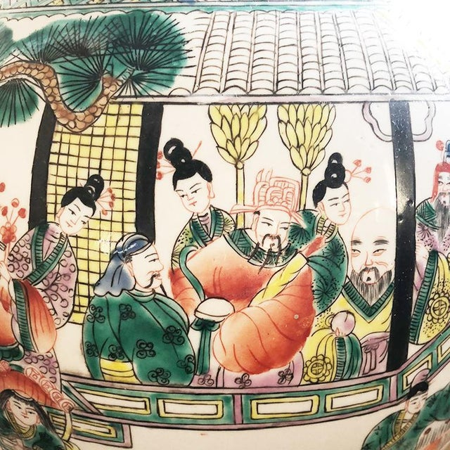 Asian 17th Century Chinese Famille Verte Rose Pink & Green Ginger Jar For Sale - Image 3 of 7
