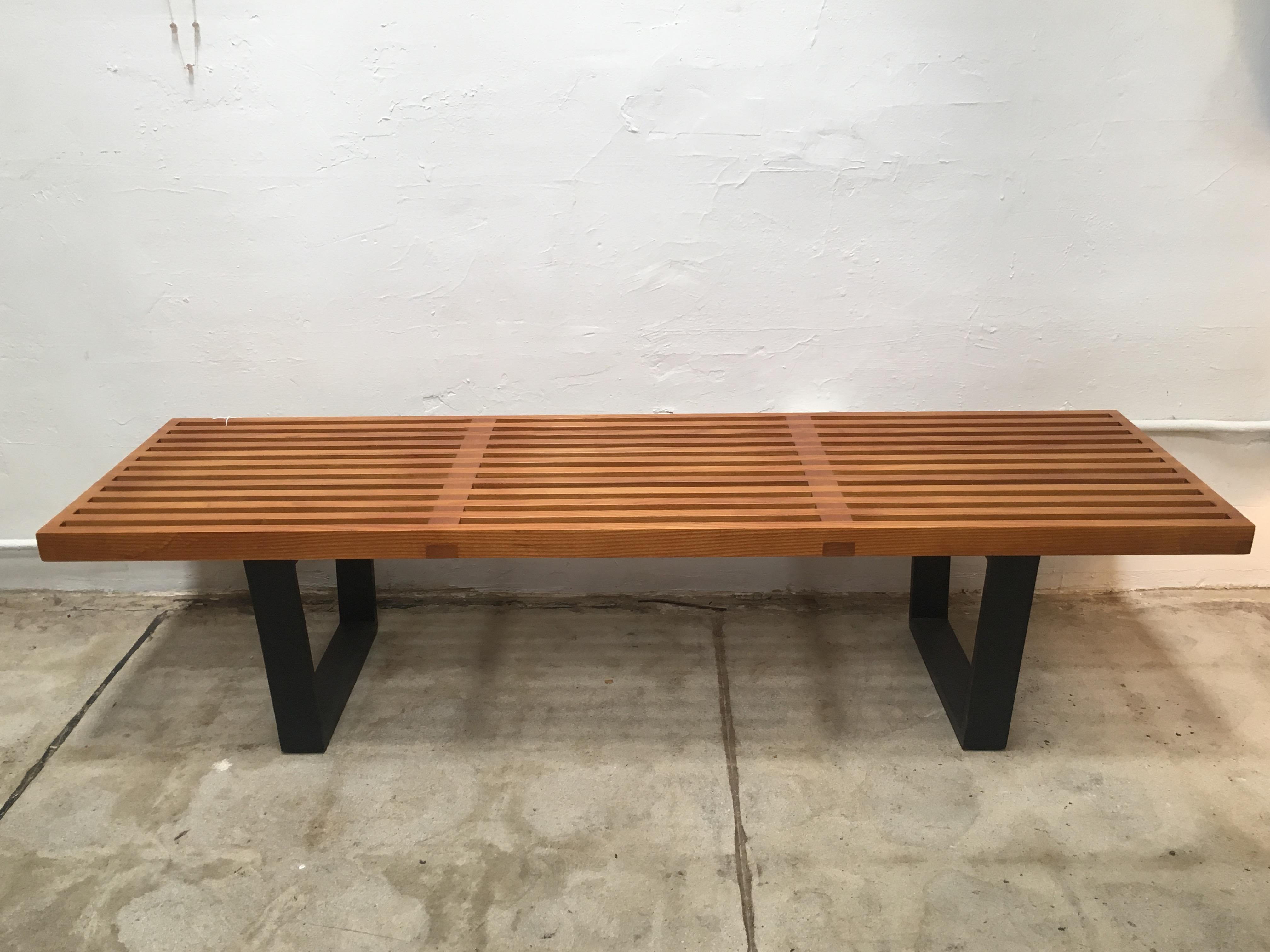 George Nelson Style Slatted Bench Coffee Table   Image 2 Of 4