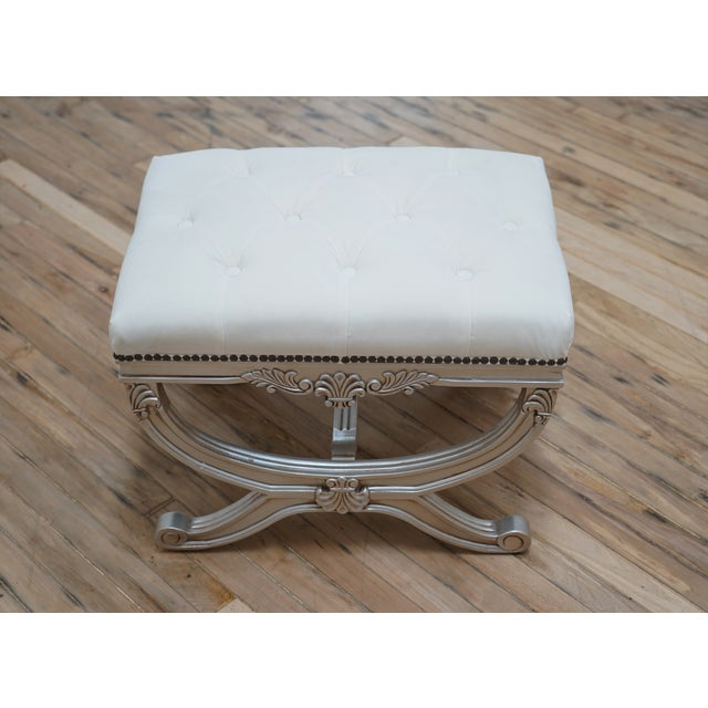 Eliza Tufted Stool by Frontgate For Sale In Los Angeles - Image 6 of 7