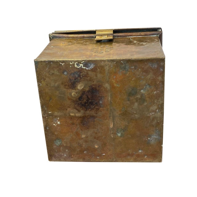 Metal Antique Brass Slipper Warming Box For Sale - Image 7 of 8