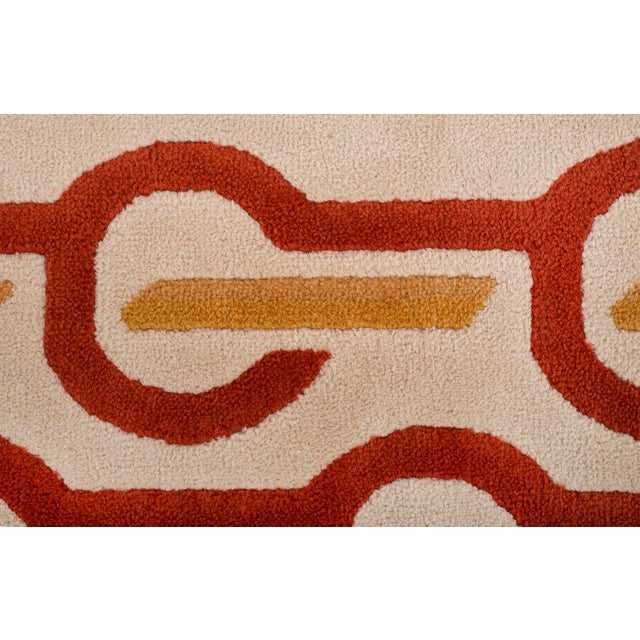 Modernist Wool Rug by Pierre Cardin in Cream, Denmark 1970s For Sale - Image 9 of 11