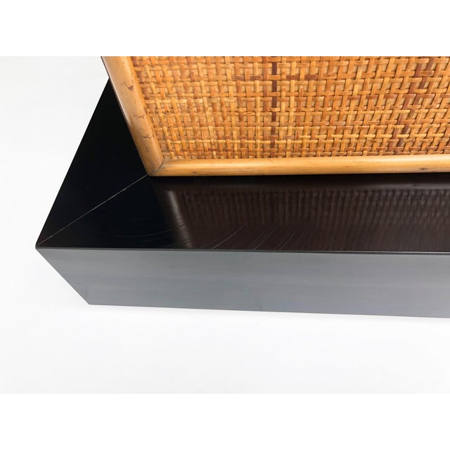 Brass Mid Century Asian Inspired Cabinet For Sale - Image 7 of 11