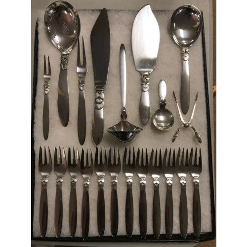 Georg Jensen Sterling Silver Serving Pieces & Pastry Forks - Set of 21 - Image 9 of 9