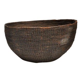 Early 20th Century Woven Nigerian Food Basket For Sale