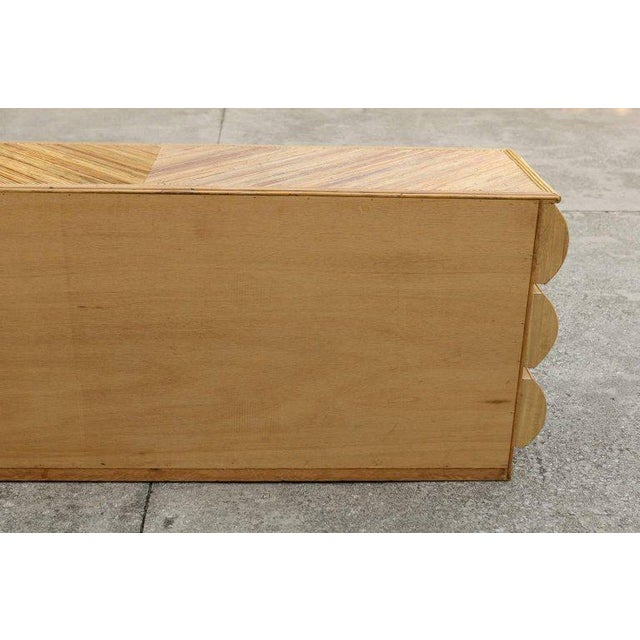 Magnificent Restored Bullnose Nine-Drawer Chest in Bamboo For Sale - Image 10 of 11
