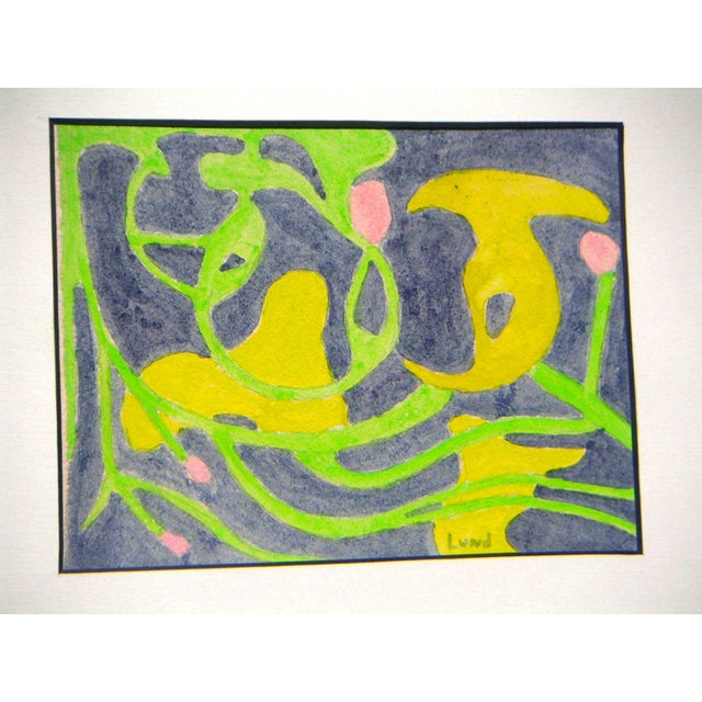 Vintage Biomorphic Abstract Painting For Sale - Image 4 of 4