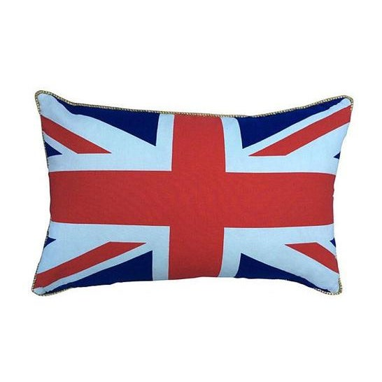 British Union Jack Pillow W/ Gold Cording For Sale In Los Angeles - Image 6 of 6
