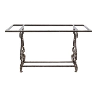 Rustic Steel Console/Pastry Table For Sale