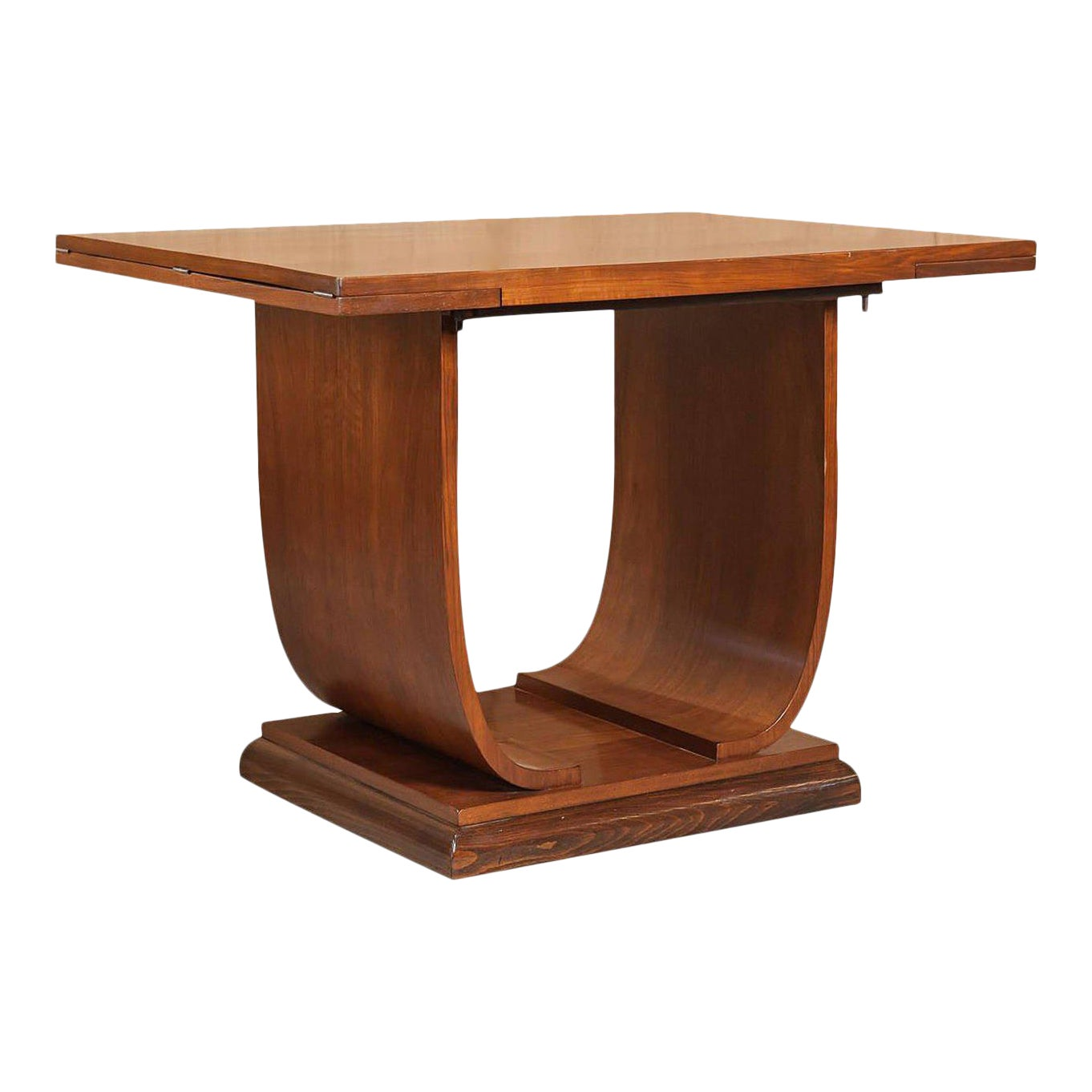 Fabulous French Art Deco Walnut Flip Top Console Table Gmtry Best Dining Table And Chair Ideas Images Gmtryco