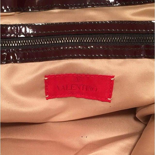 Black Valentino Multicolor Silk Rosier Rosettes Tote Bag For Sale - Image 8 of 10