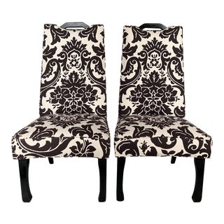 1950s Vintage High Back Decorator Chairs- A Pair For Sale