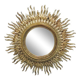 Vintage Mid Century Syroco Sunburt Mirror For Sale