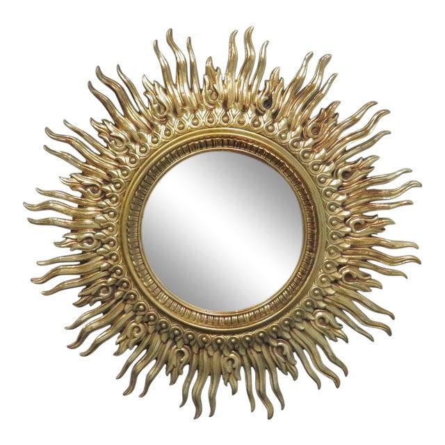 Vintage Mid Century Syroco Sunburt Mirror For Sale