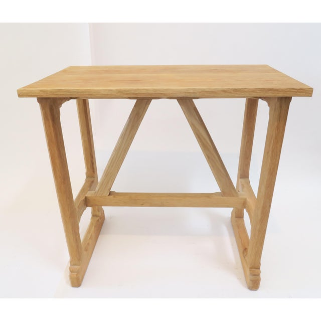 Martin & Brockett Short Trestle Wood Table - Image 2 of 7
