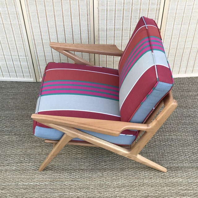 2010s Mid-Century Modern Danish Z Chair For Sale - Image 5 of 7