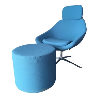 """""""Open"""" Chair and Ottoman by PearsonLloyd for Allermuir For Sale"""