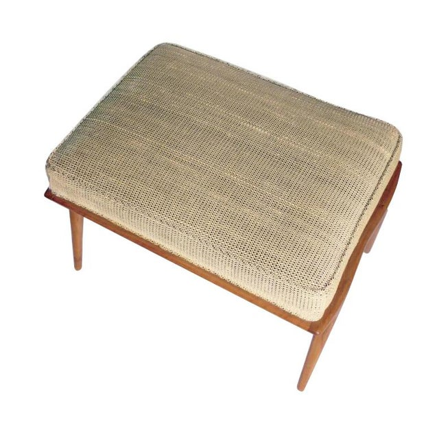 Mid-Century Modern 1960s Vintage Carlo De Carli Ottoman. Like Gio Ponti in Style. All Original, Including the Fabric For Sale - Image 3 of 6