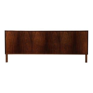 1960s Vintage Fredericia Stolefabrik Danish Rosewood King Size Headboard For Sale
