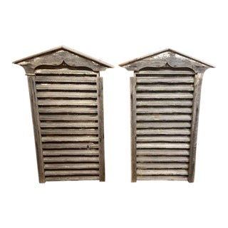 Architectural Rustic Salvage Large Vents - a Pair For Sale