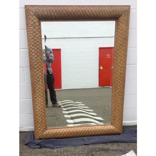 Gold Marge Carson Fish Scale Wood Framed Mirror For Sale - Image 8 of 8
