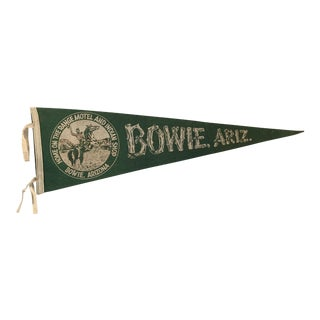 Early Bowie AZ Travel Pennant Western For Sale
