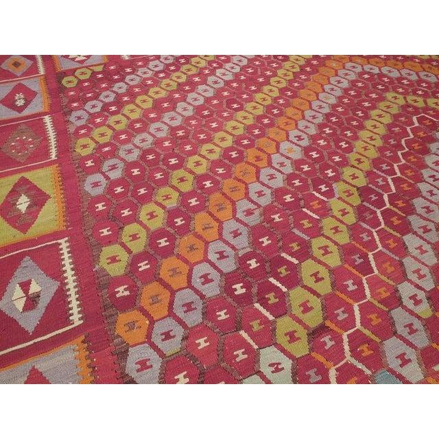 """Honeycomb"" Sharkisla Kilim For Sale In New York - Image 6 of 10"