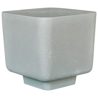 Cast Resin 'Block' Side Table in Gray Stone Finish by Zachary A. Design For Sale