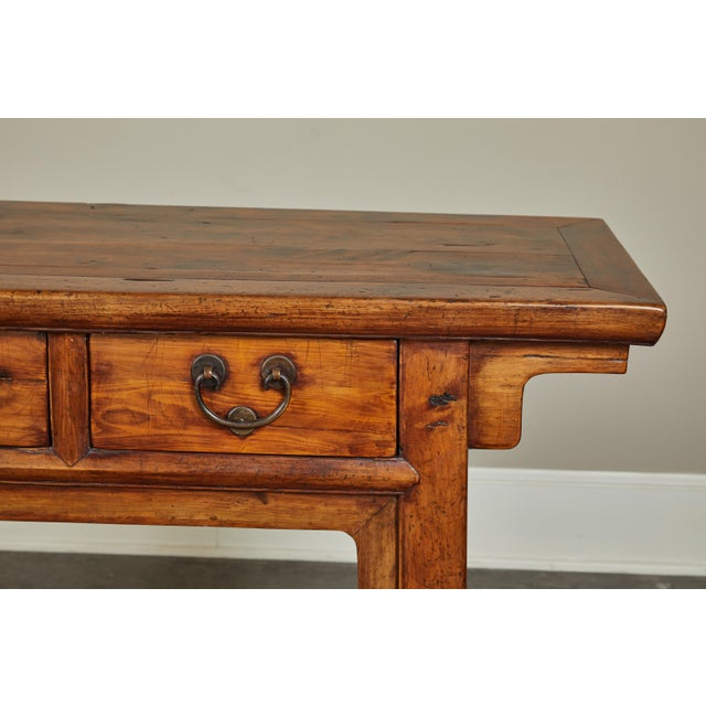 Wood 18th Century Antique Chinese Three Drawer Sideboard For Sale - Image 7 of 13