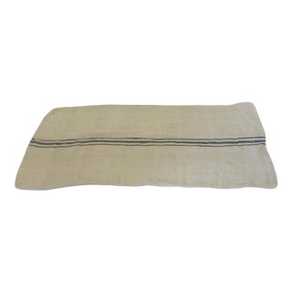 French Blue Stripe Linen Grain Sack