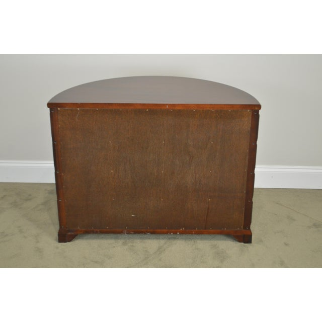 1990s Madison Square Demilune Chippendale Chest of Drawers For Sale - Image 5 of 13