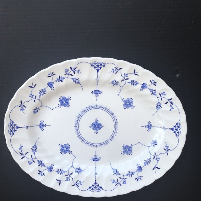 Beautiful blue and white Finnlandia serving platter. Made by Myott of England. Perfect for the upcoming holidays for use...