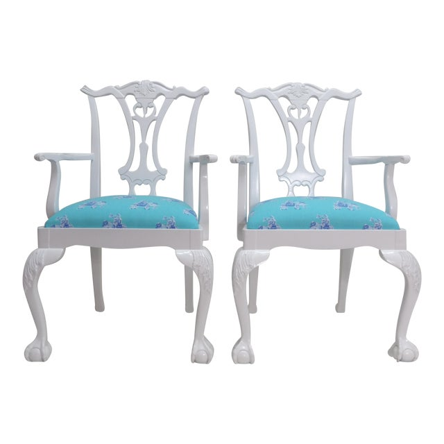 Lively Accent Chairs - a Pair For Sale