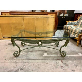 1960s Italian Iron Glass Top Coffee Table Preview