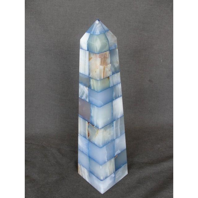 Blue & Brown Onyx Obelisk - Image 4 of 7