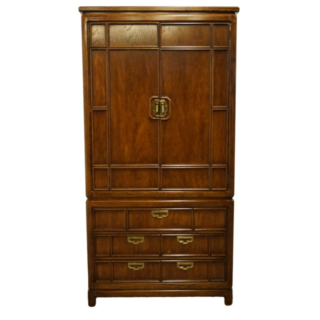 Vintage Thomasville Furniture Mystique II Asian Style Armoire For Sale - Image 12 of 12