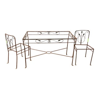 Vintage Wrouhgt Iron Dining Set For Sale