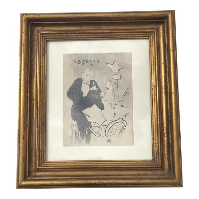 "Framed Print of ""Sagesse"" (Wisdom) by Henri De Toulouse-Lautrec For Sale"