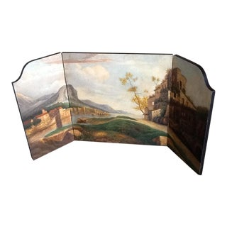 Painted 3 Panel Decorative Landscape For Sale
