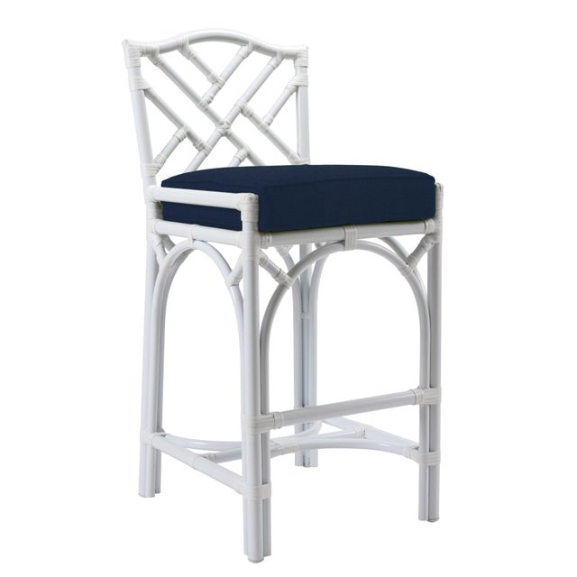 Chippendale Chippendale Outdoor Barstool - White For Sale - Image 3 of 3