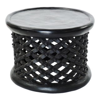 Exceptional Bameleki Spider Tables Hand Carved Solid African Hardwood - Large Size For Sale