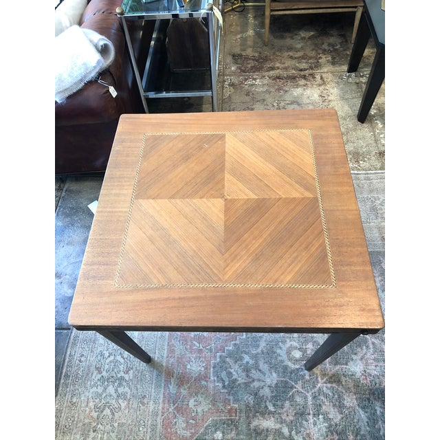Mid-Century Modern Vintage Mid Century Folding Card Table For Sale - Image 3 of 13