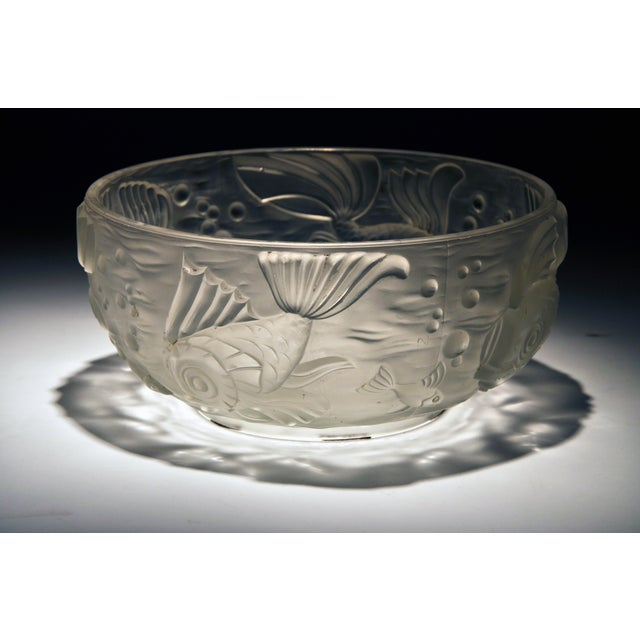 Molded and Frosted Glass Bowl - Image 5 of 6