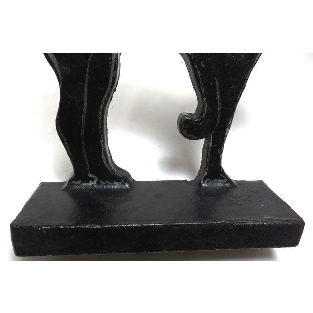Metal 1920s Black Halloween Cat Cast Iron Doorstop For Sale - Image 7 of 13