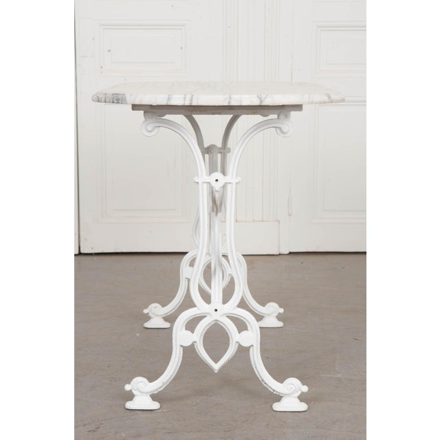 Early 20th Century Early 20th Century French Marble Top Bistro Table For Sale - Image 5 of 10