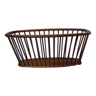 1960s Mid-Century Modern Arthur Umanoff Walnut Magazine Rack For Sale